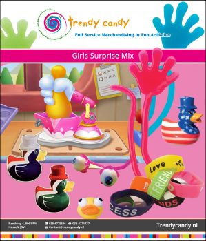 Trendy Candy - Girls Surprise Mix Capsules 250 stuks