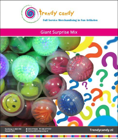 Trendy Candy – Giant Surprise Mix 100 stuks
