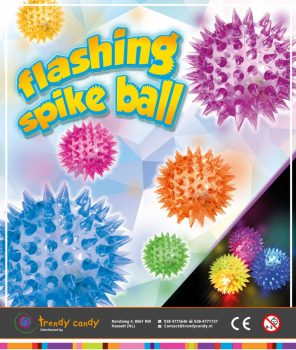 Trendy Candy Capsules Flashing Spike Ball 100 stuks