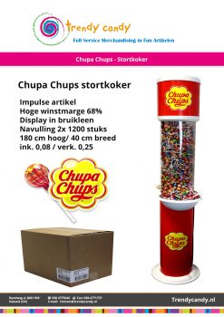 Chupa Chups - Stortkoker met twee dozen bulk (2400 stuks)