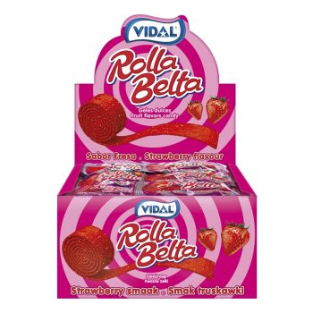 431388 - Vidal - Rolla Belta Strawberry 24 stuks