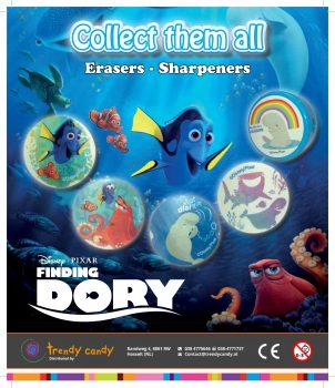 Finding Dory - 50mm capsules 250 stuks