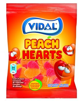 Vidal - Peach Hearts 100gr. 14st.