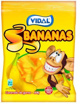 Vidal - Bananas 100gr. 14st.