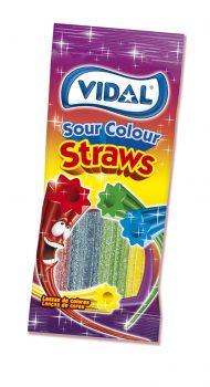Vidal - Sour Rainbow Straws 100gr. 14st.