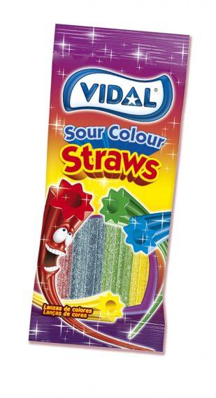 Vidal – Sour Rainbow Straws 100gr. 14st.