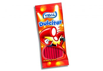 Vidal - Strawberry Pencils 100gr. 14st.