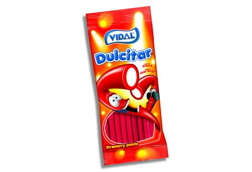 Vidal – Strawberry Pencils 100gr. 14st.