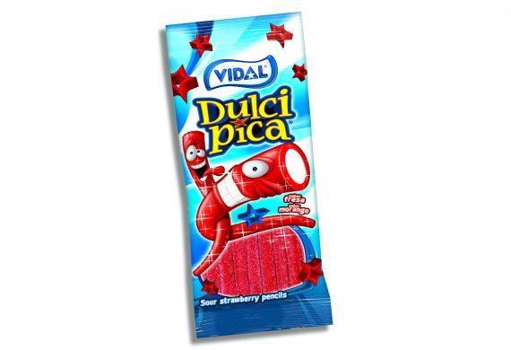 Vidal – Sour Strawberry Pencils 100gr. 14st.