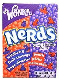 USA - Wonka Nerds Peache & Wildberry 24 x 46,7g.