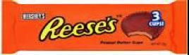 USA - Reese's Peanut Butter Cup 3pk 40 x 51g.