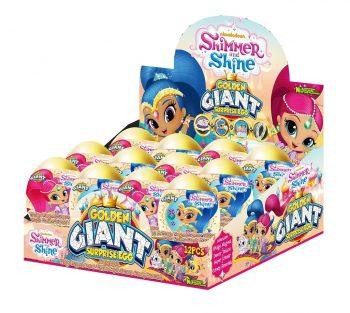 TC - Golden Giant Surprise Eggs Shimmer Shine 12 st.