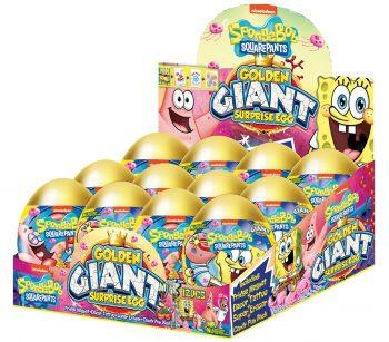 TC - Golden Giant Surprise Eggs Sponge Bob 12 st.