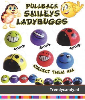 Pullback Smily/Ladybug 1 euro capsules 250st.