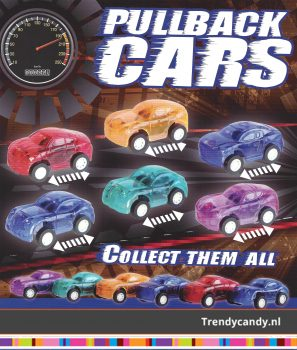 Pullback Cars 1 euro capsules 250st
