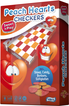 Sweet 'n Play - Peach Hearts Checkers 1 st.