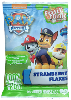 Fruitfunk - Paw Patrol Happybag Strawberry Flakes 14st.