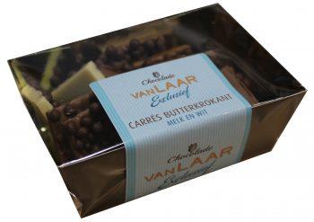 VLE - Carrés butterkrokant melk en wit 150gr.