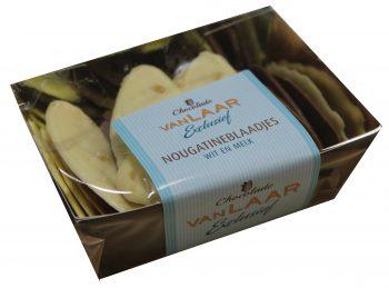 VLE - Nougatineblaadjes wit en melk 150gr.