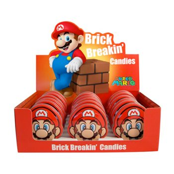 Nintendo - Mario Head Tin Candies 18st.
