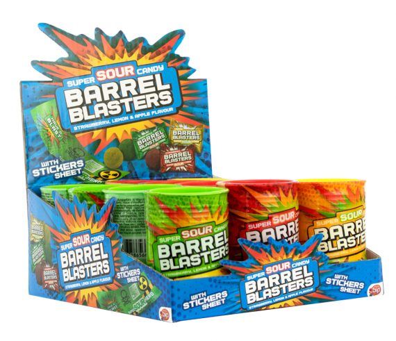 413047 – Barrel Blasters – Sour Candy 12 st.
