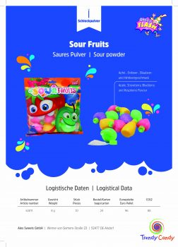AS - Sour Fruits Bag 80g 24st.